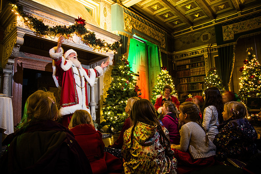 Corporate photography at Warwick Castle with Father Christmas