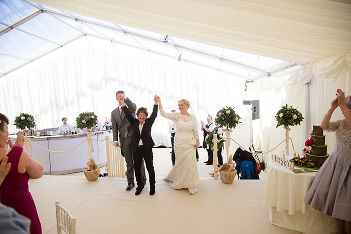 Wedding photography with Ridgeway Marquees & Jam Productions.