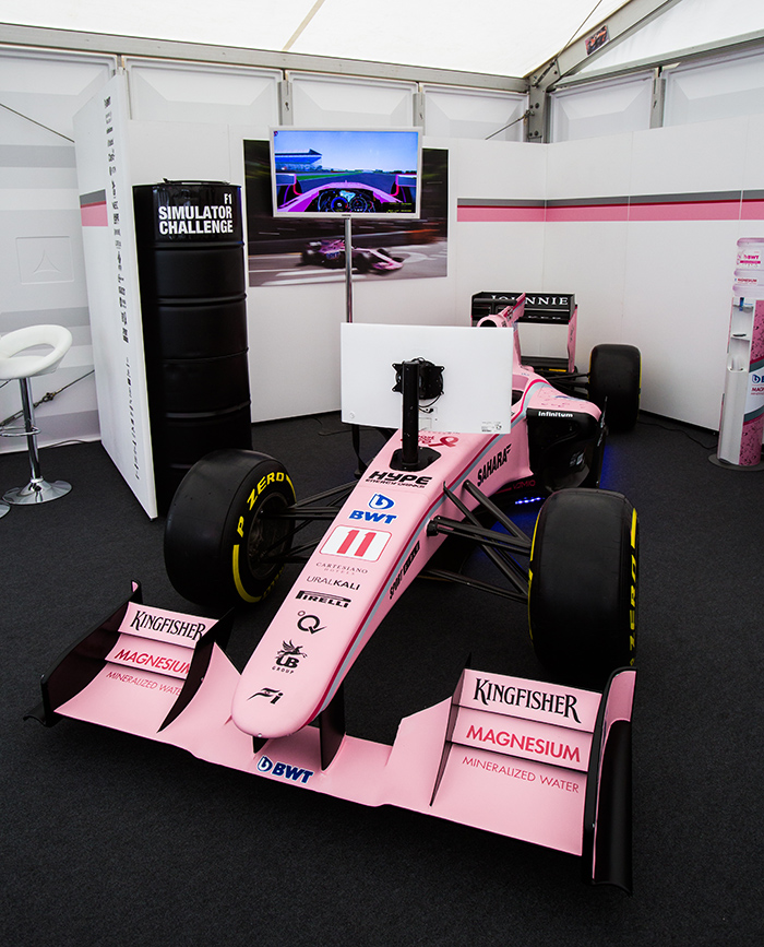 Force India, at Silverstone, with Fews Marquees.