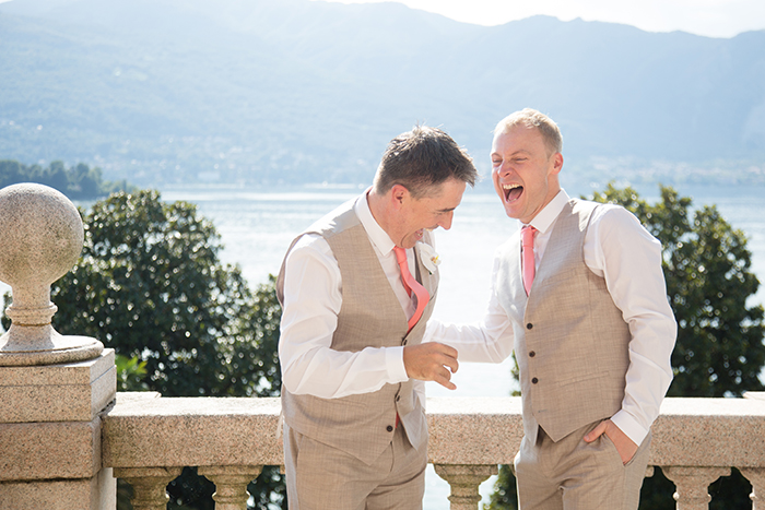 Destination wedding photography at Lake Maggiore, Italy.