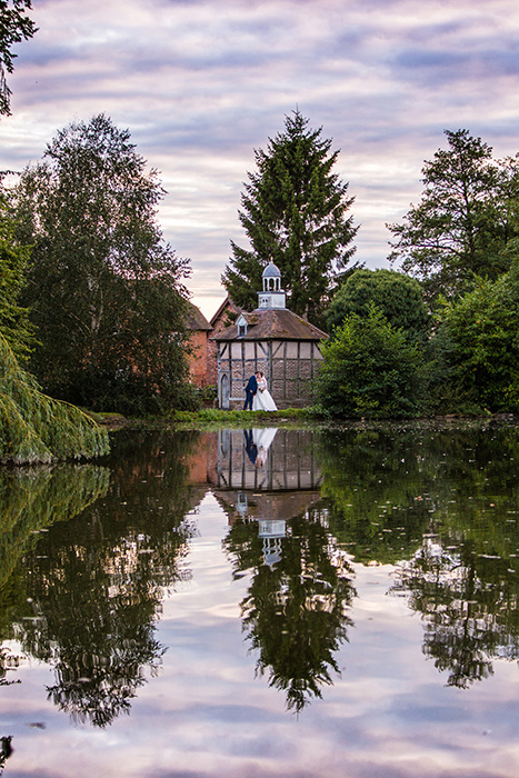 Wedding photography at Brockencote Hall.