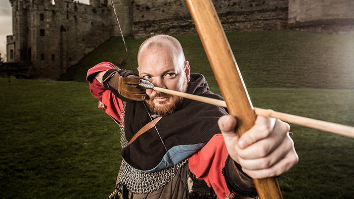 Archer at Warwick Castle