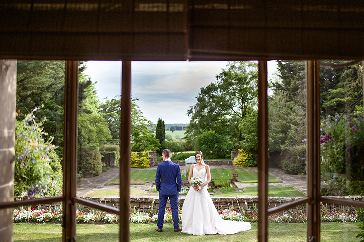 Bride and Groom at Mallory Court Hotel.