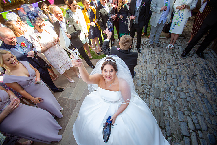 Bride playing Mr & Mrs.