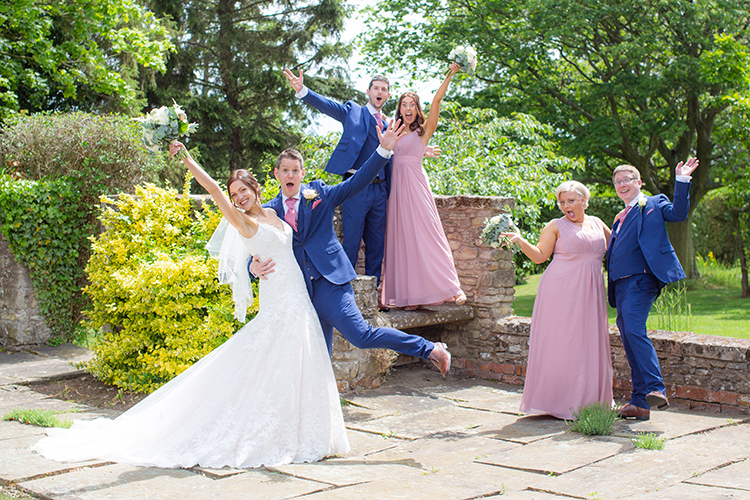 Bridal Party having fun.