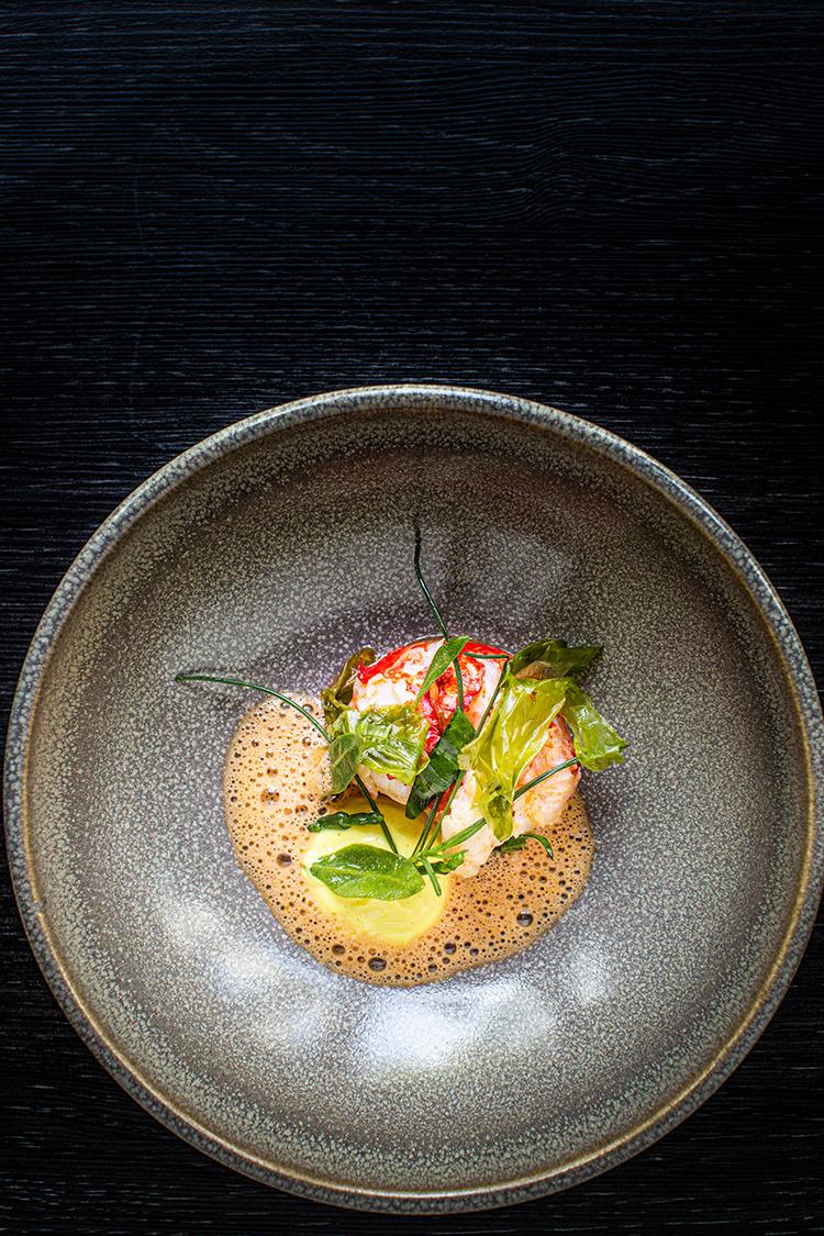 Lobster starter at Craft Dining