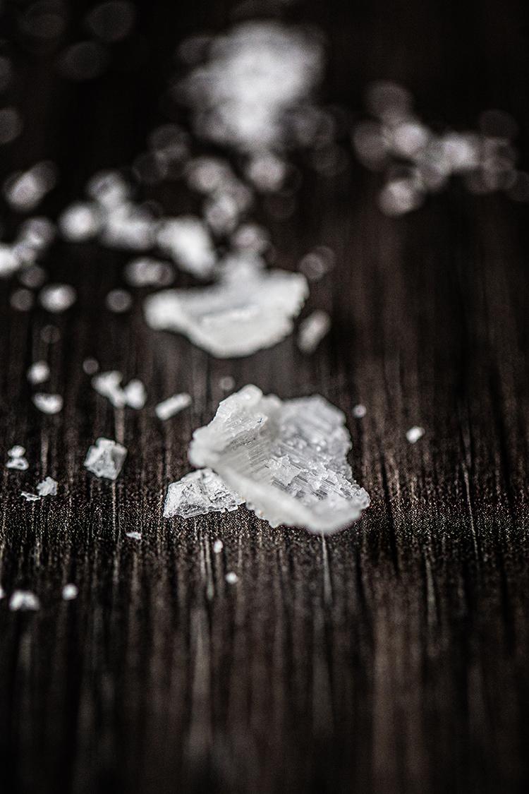 Close up of walked salt
