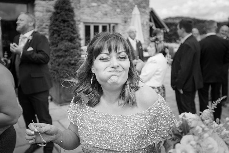 Bridesmaid eating