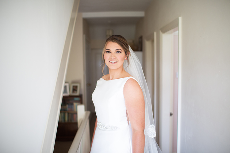 Bride at home before wedding