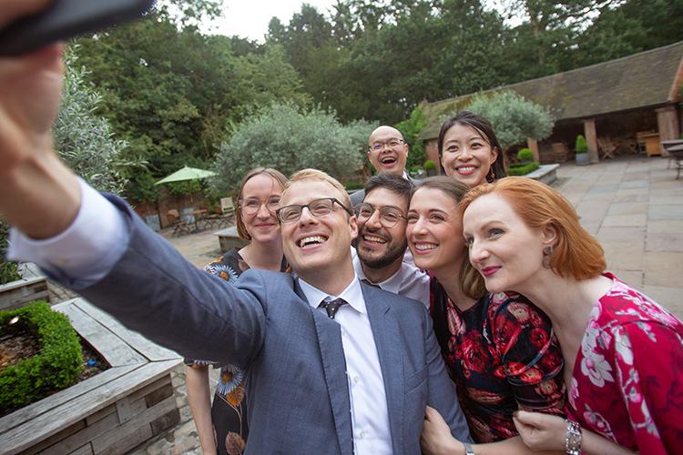 Wedding guest Selfie.