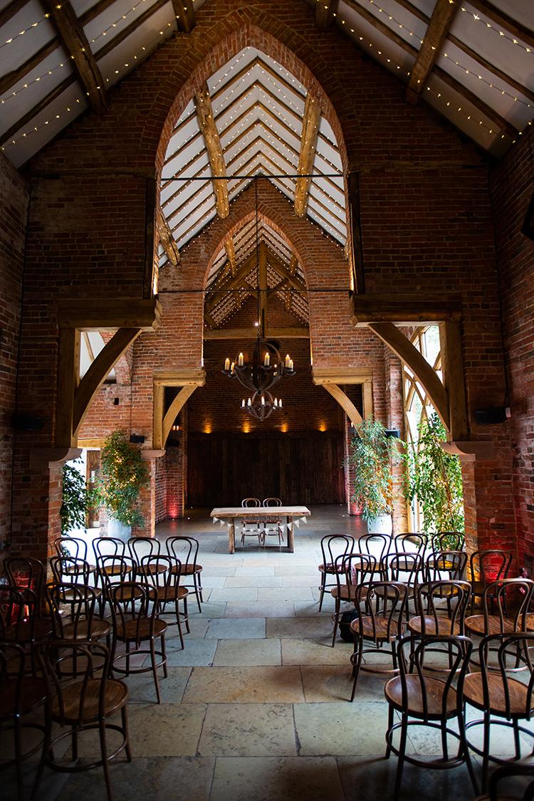 Shustoke barn set up for wedding ceremony
