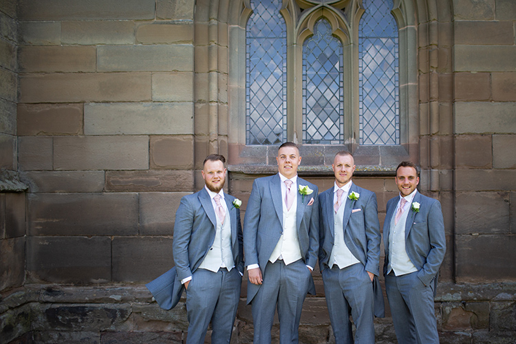 The Groomsmen at the church.
