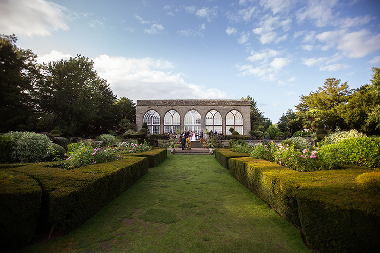 Peacock garden Warwick Castle
