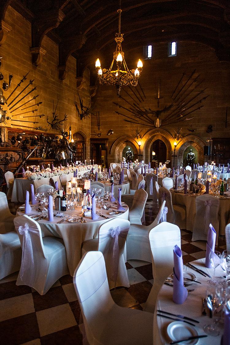 Wedding breakfast at Warwick Castle