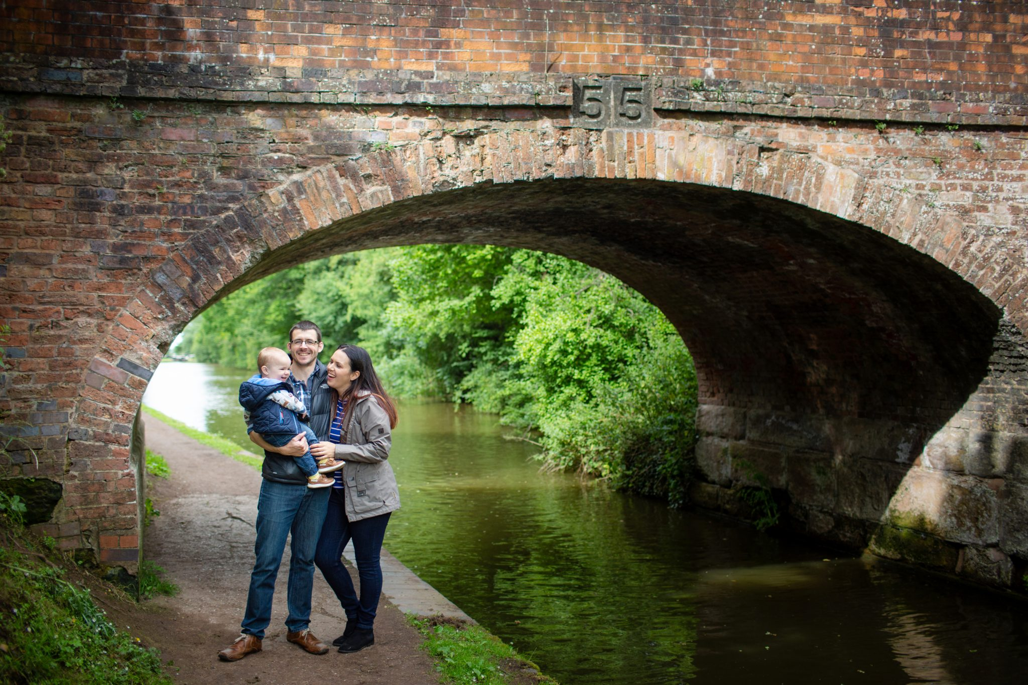 Family Portrait by the Canal.