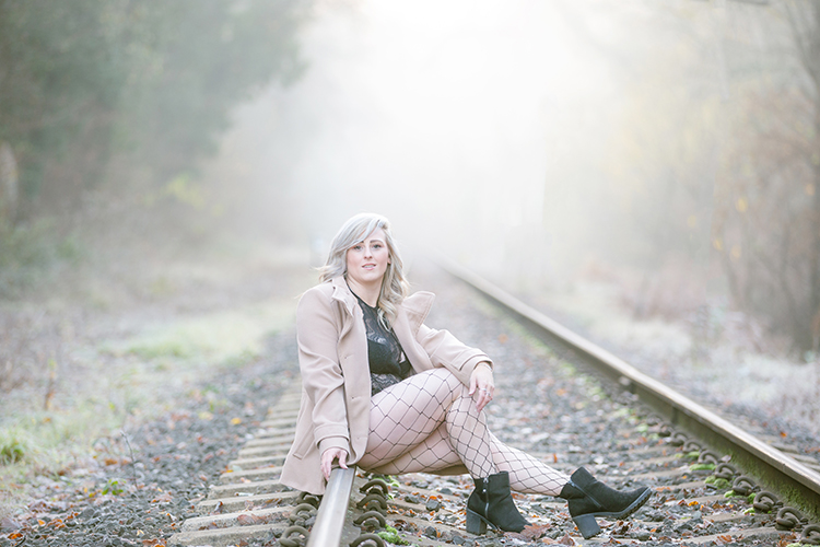Portrait shoot on train tracks