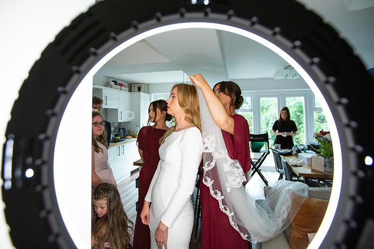 Wedding photography at Nuthurst Grange.